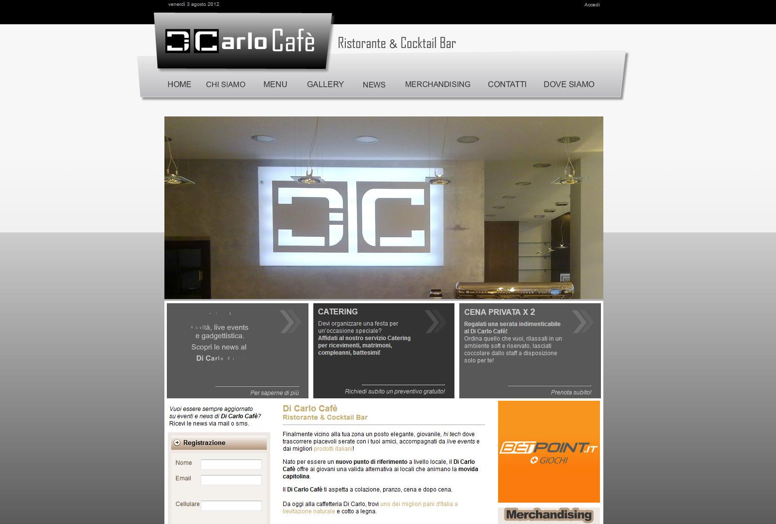 Di Carlo Café - I nostri progetti // Web2U - web agency
